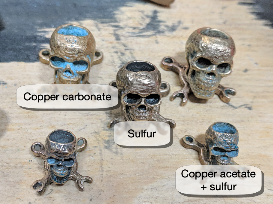skulls with various finishes